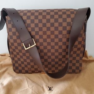 LV leather stripe bastille messenger bag